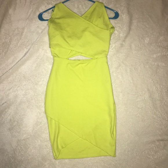 b75878df Zara Dresses | Brand New Lime Green Dress Size S | Poshmark